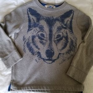 Land's End gray wolf sweater